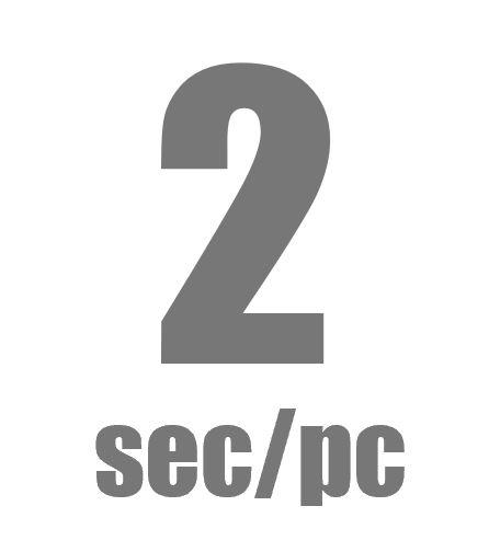 2sec/pc