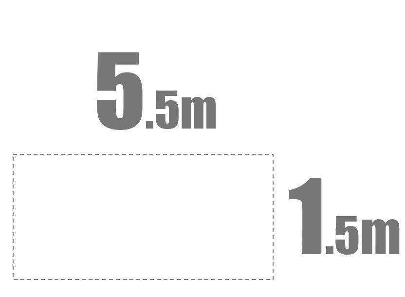 5.5m x 1.5m