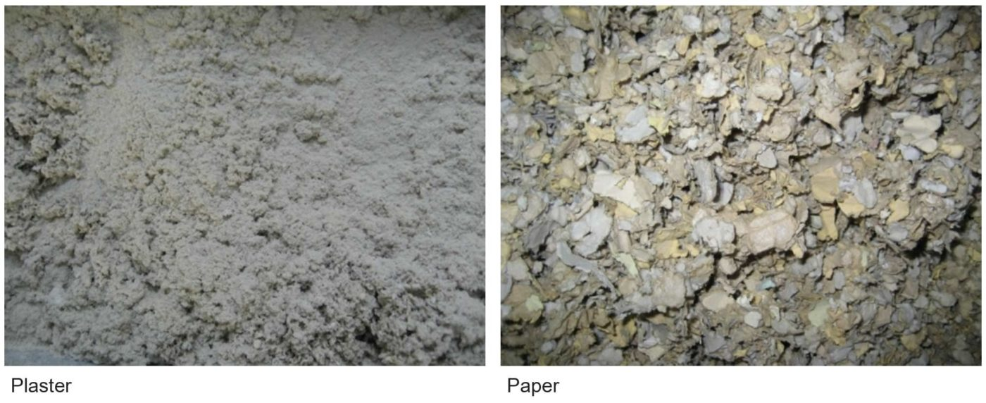 Plaster and paper