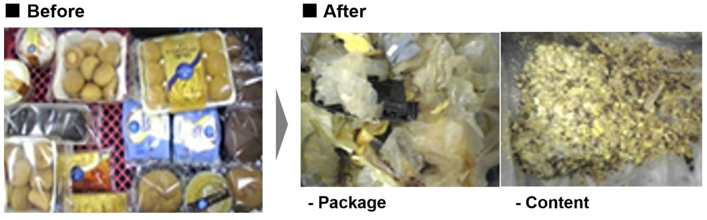 Before / after for package and content